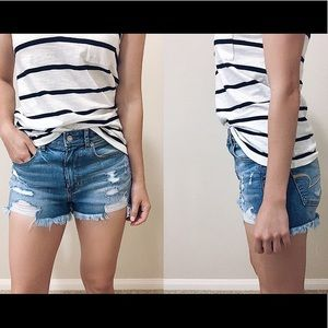 AE Denim X Super High-Waisted Short Short